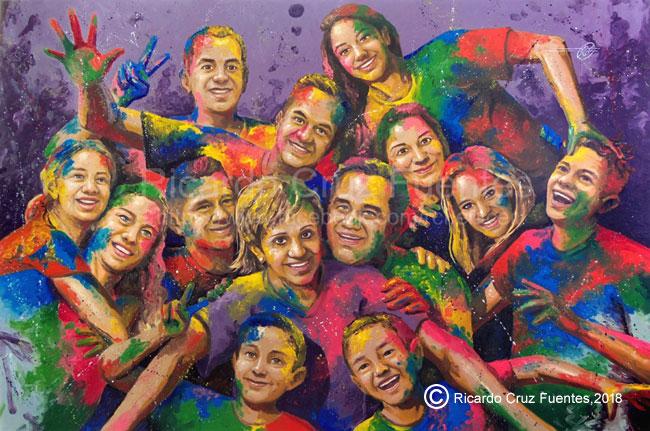 Oleo-En-familia